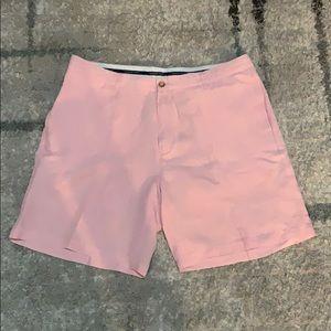 Vineyard Vines pink silk linen Clubhouse shorts